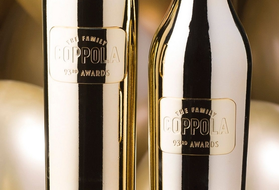 93° AWARDS: I VINI DI FRANCIS FORD COPPOLA WINERY IN BOTTIGLIE DORATE REALIZZATE DA BOTTEGA S.P.A.